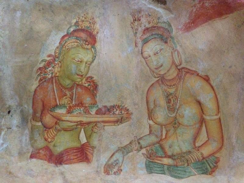 sri lanka mağara freskleri