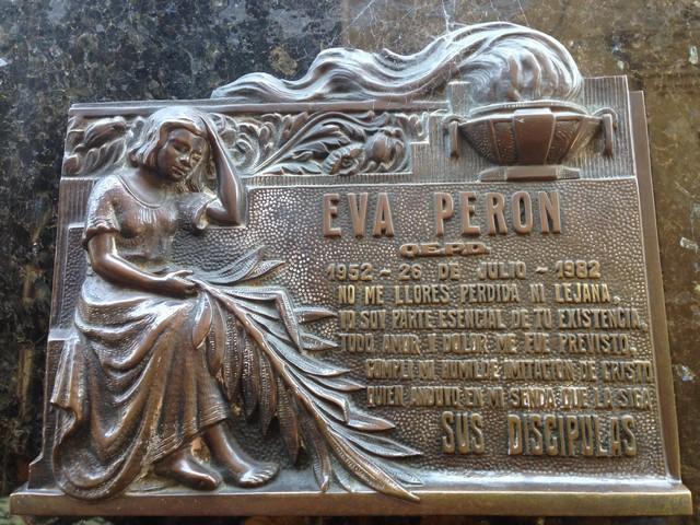 eva peron'un mezarı, evita peron